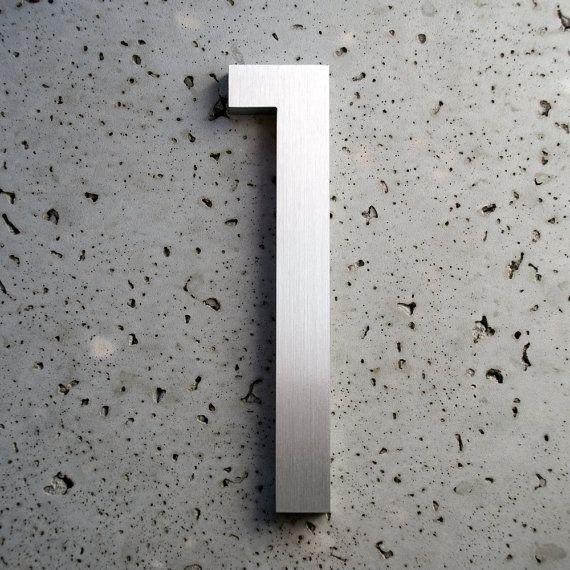 Modernes Haus Nummer Aluminium moderne Schriften Nummer eins 1 auf Etsy, 19,18 €