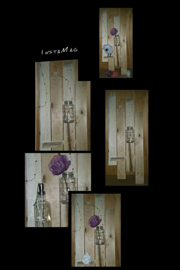 #diy #pallet #hout #wood #muur #woonkamer #creative