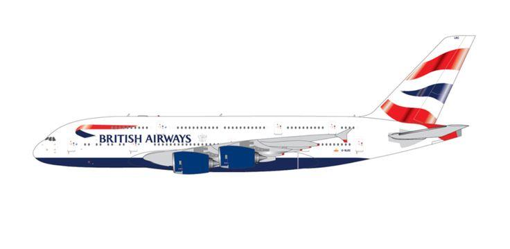 1/400 GeminiJets British Airways Airbus A380-800 Diecast Model
