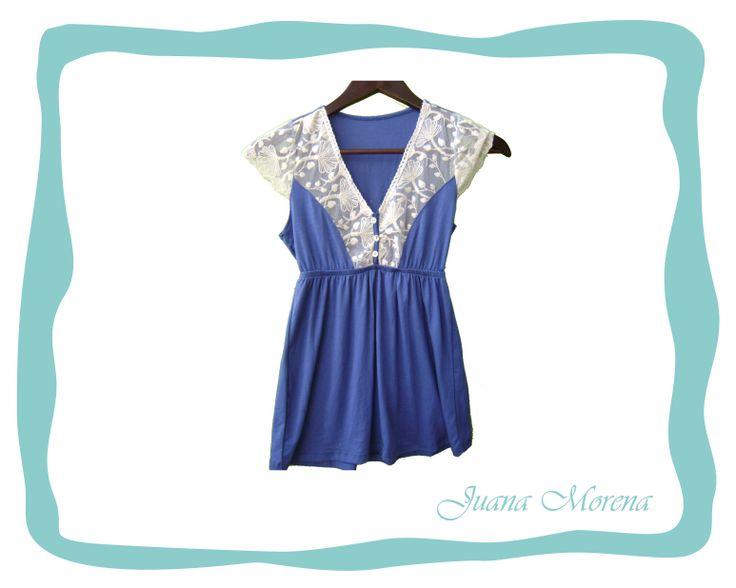 Remera romance azul francia