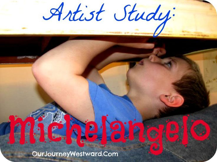 Michelangelo Artist Study  - books to read, websites to research, pictures to study, project to do