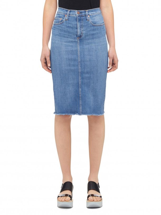 Nobody Denim - Portrait - Cult Longline Pencil Skirt