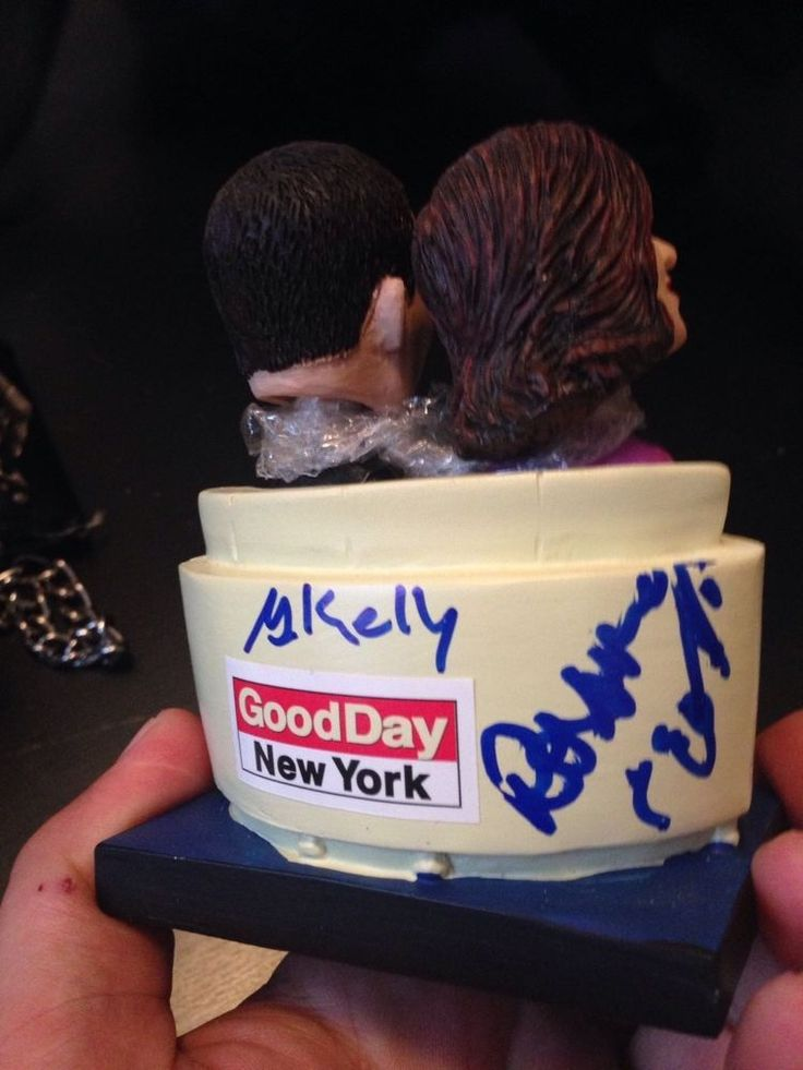 ROSANNA SCOTTO GREG KELLY Signed BOBBLEHEAD FOX 5 BOBBLE HEAD BROOKLYN CYCLONES #BrooklynCyclones