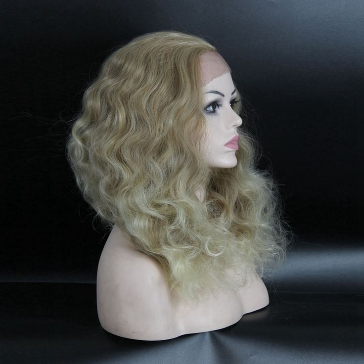 "Synthetic Lace Front Wig Women 22"" Long Curly Highlight body wavy Cheap Synthetic Wigs Realistic Kanekalon heat resistant female"
