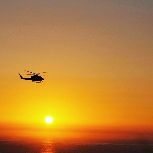 Sunset 🌅  ____________ #airparos #greece #airbus #helicopter #helicoptertour #jet #jetlife #privatejet #luxuryjet #sunset #orange #sea #dayisdone #discover #fly #flight #summer2017 #holidays #europe