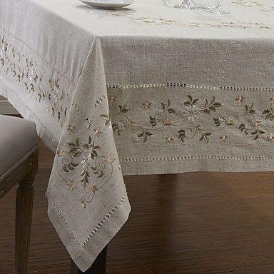 Floral, toalha de mesa de linho clássico