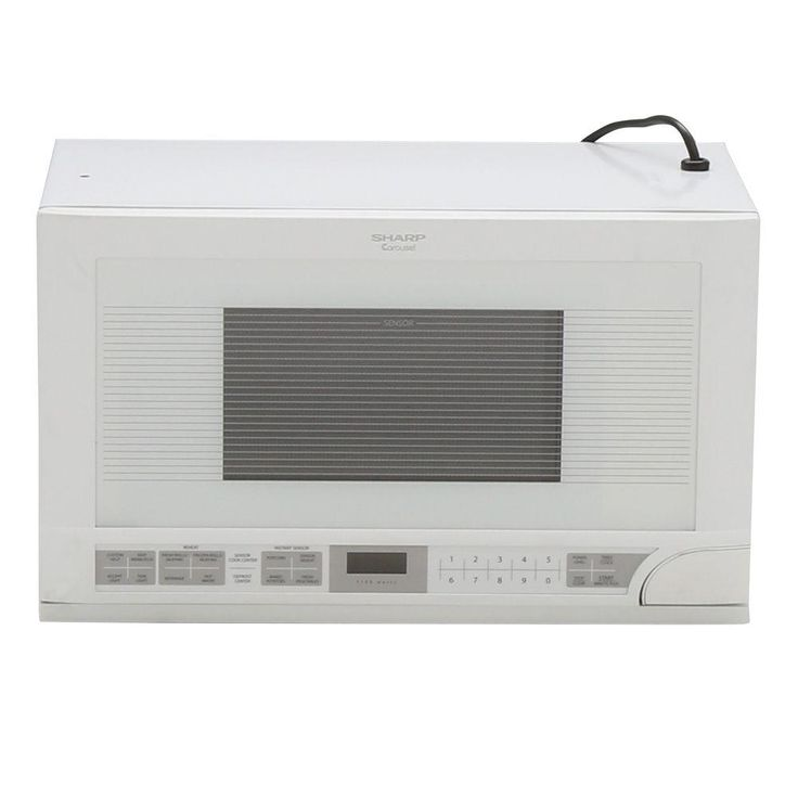 Sharp 1.5 cu. ft. Over the Counter Microwave in White with Sensor Cooking