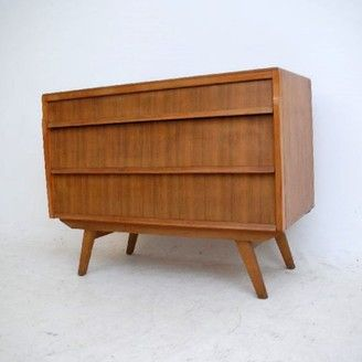 Retro Walnut Chest of Drawers Vintage 1950's | retrospectiveinteriors.com