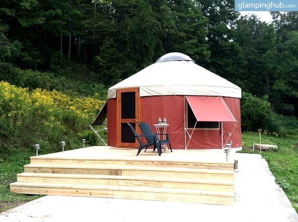 Yurt Rentals Upstate New York | Country Yurt Upstate New York #glamping #july4 #happybirthdayamerica