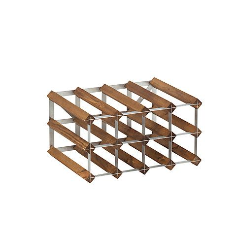 Buy The Traditional Wine Rack Company Dark Oak Wine Rack, 12 Bottle Online at johnlewis.com