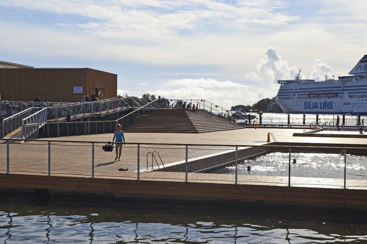Take a dip in a warm or cold water pool in Allas Sea Pool right next to Helsinki Market Square. Photo Päivi Romo