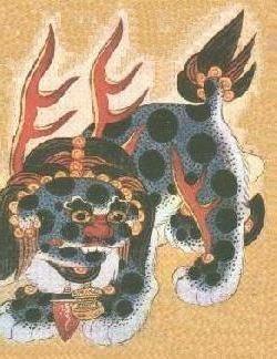Xiezhi or Haetae is a legendary creature in Chinese and Korean mythology.