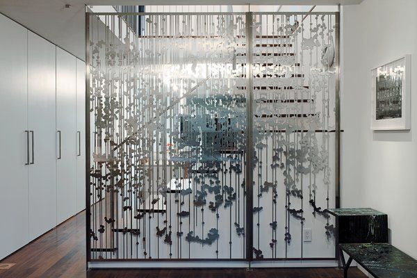 An 1850 schoolhouse in Milford, Pennsylvania - Photo 10 of 11 - Another view Magnes's aluminum screen divider.