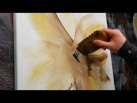 Demonstration Einer Abstrakten Malerei Mit Acrylfarbe   Magnolia   YouTube