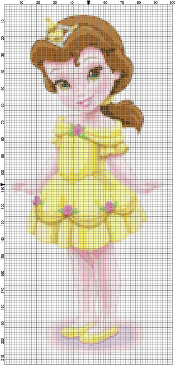 Mini Belle cross stitch pattern PDF