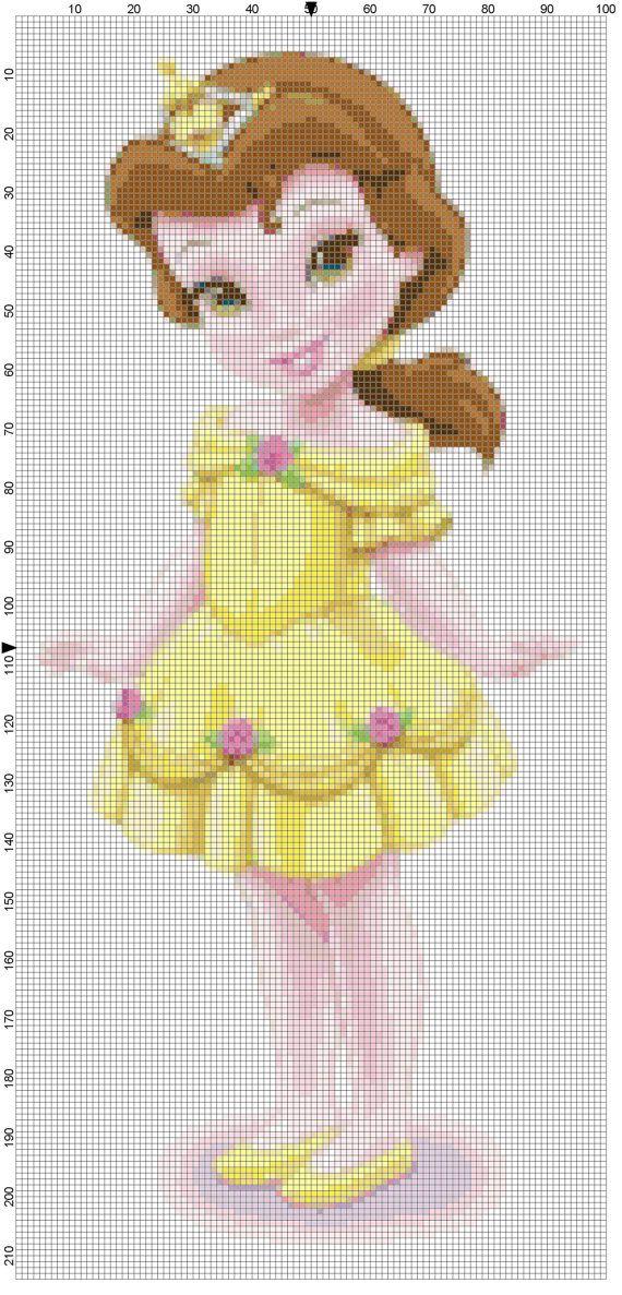 Mini Belle cross stitch pattern PDF by Bluegiantstitch on Etsy, £1.20