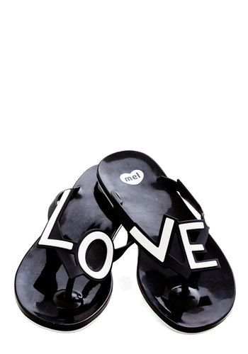 Stylish Expression Sandal by Mel Shoes - Black, White, Novelty Print, Beach/Resort, Statement, Flat, Good, Quirky, Sayings, Summer
