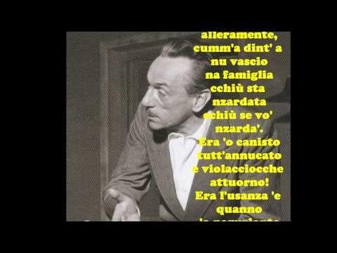 """Eduardo De Filippo: """" 'O CANISTO"""" - Le videopoesie di Gianni Caputo"""