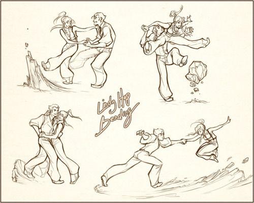 Korra and Bolin Lindy Hop Bending