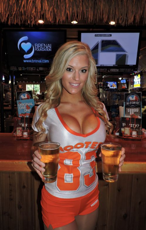 Sexy down shirt hooters
