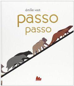Passo passo, Emilie Vast, Gallucci 2013 Il mito del diluvio universale, poche parole e una grafica delicata