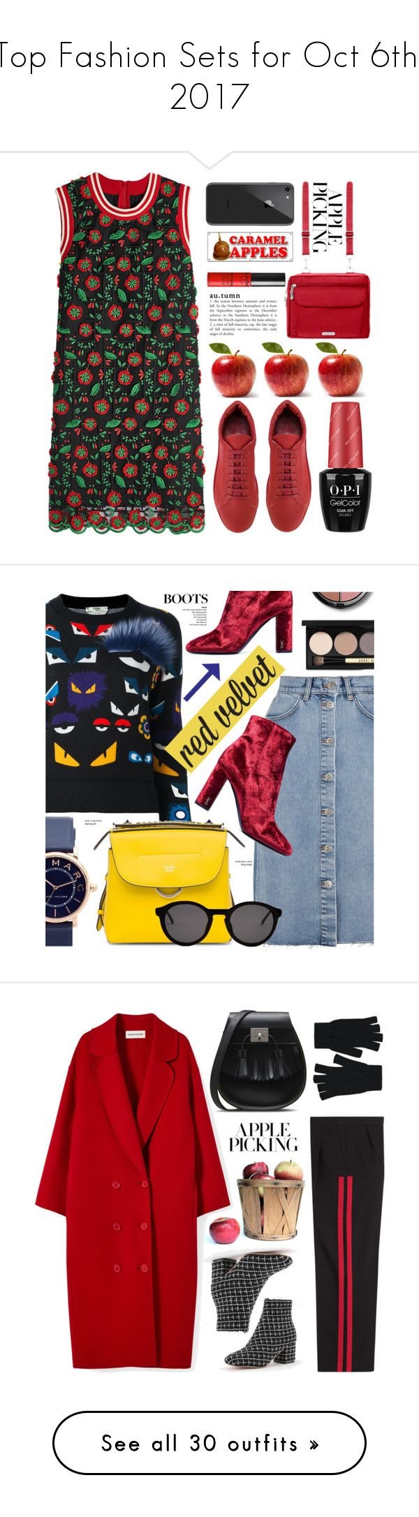 """""""Top Fashion Sets for Oct 6th, 2017"""" by polyvore ❤ liked on Polyvore featuring Anna Sui, Jil Sander, Baggallini, Forever 21, applepicking, M.i.h Jeans, Fendi, Marc Jacobs, Yves Saint Laurent and Thierry Lasry"""