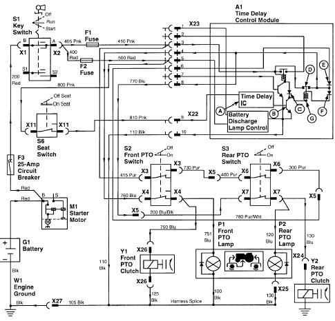 john deere lawn tractor electrical diagram john deere wiring diagram on and fix it here is the wiring ... #7