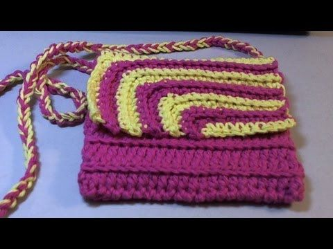 Fun and easy 2 color Contrasting #crochet purse - Works up fast