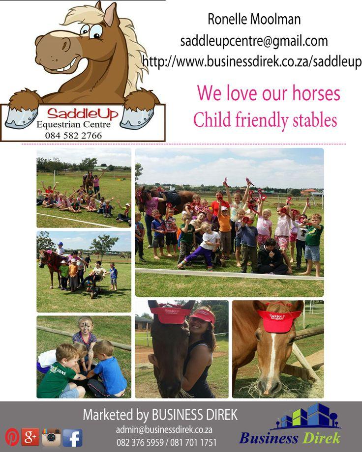 SaddleUp Stables Pragtige stalle en perder lesse beskikbaar Kontak Ronelle Moolman 084 582 2766 http://www.businessdirek.co.za/saddleup (Grootfontein, Pretoria)