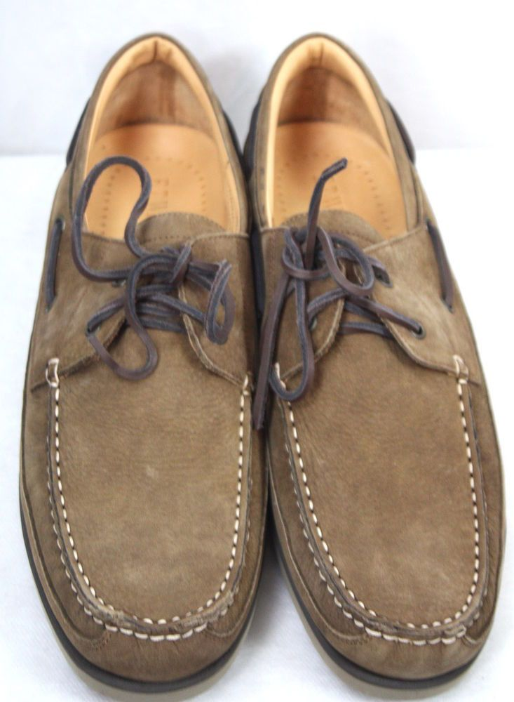 ET Wright Mens Venice Brown Nubuck Boat Shoes Size 13 NWB Italy
