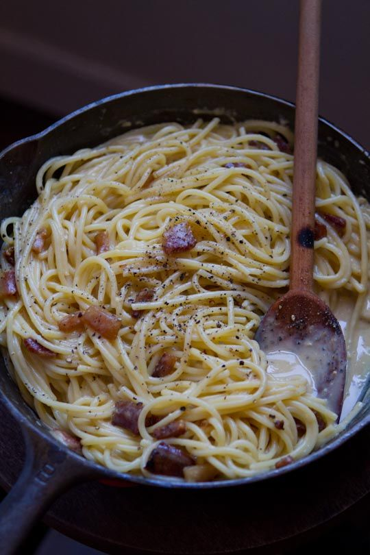 The key to Spaghetti Alla Carbonara. The best ingredients you can find - no extras or substitutions!