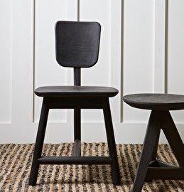 Roost stoel 3-poot hout - zwart- BePureHome