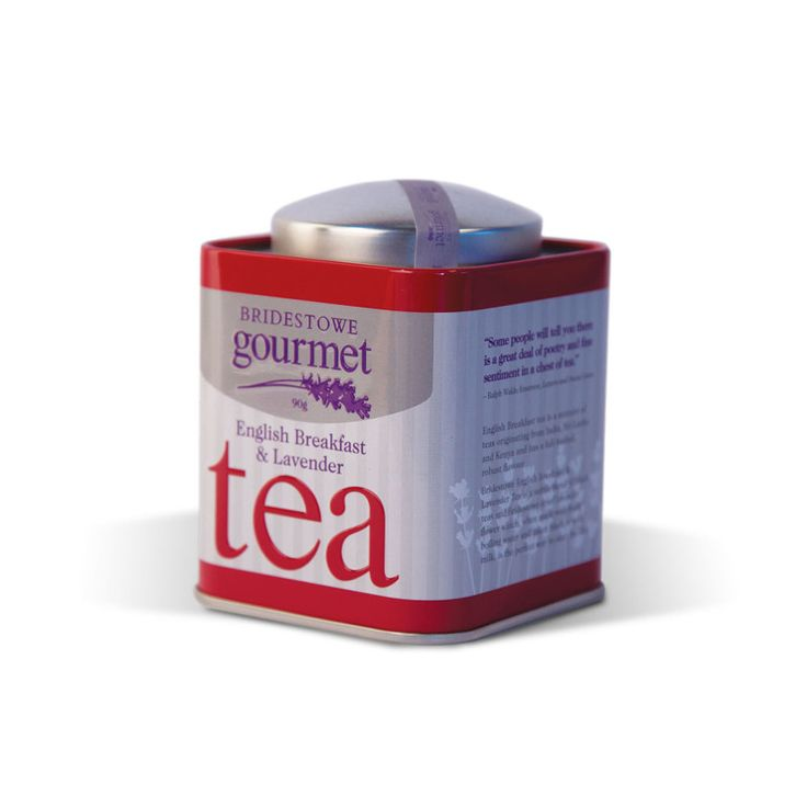 English Breakfast and Lavender Tea - $13.95 AUD A best-seller in our cafe and shop at the farm. Hearty English Breakfast tea with a light infusion of Bridestowe's finest culinary lavender. A fragrant twist on everyone's favourite cup of tea.