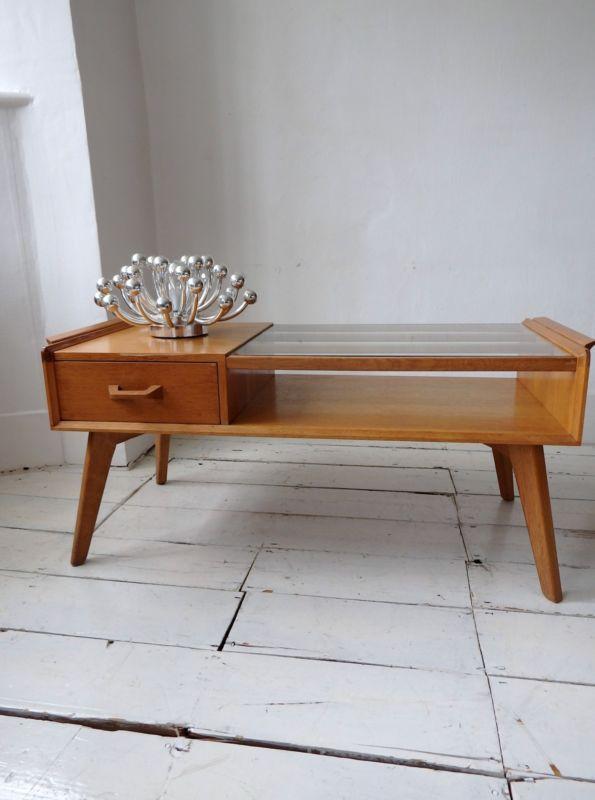 G Plan E Gomme  Oak Original Vintage Retro Rack Brandon Coffee Table TV  Stand