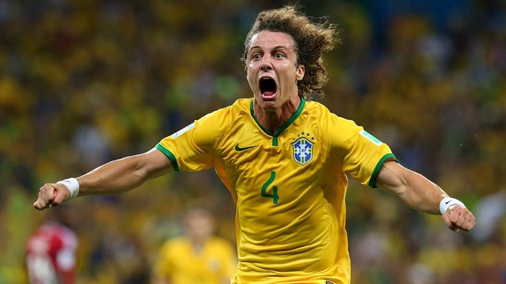 FORTALEZA, BRAZIL - JULY 04: David Luiz of Brazil celebrates scoring his team's second goal during the 2014 FIFA World Cup Brazil Quarter Final match between Brazil and Colombia at Estadio Castelao on July 4, 2014 in Fortaleza, Brazil. (Photo by Alex Livesey - FIFA/FIFA via Getty Images)