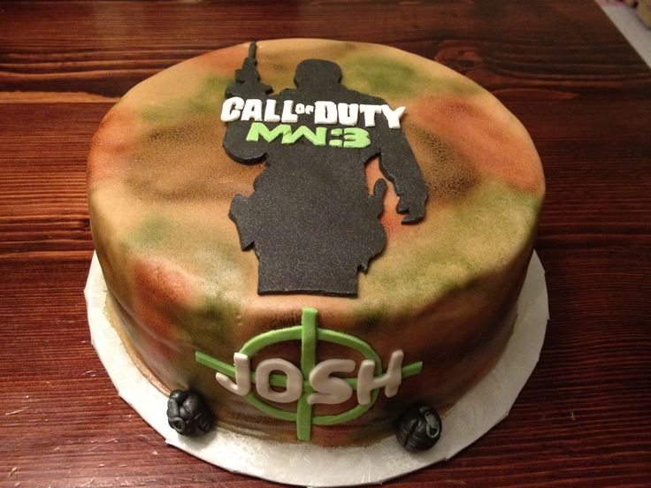 Cake Idea Names : Call of Duty cake Call Of Duty Birthday Cake s ...
