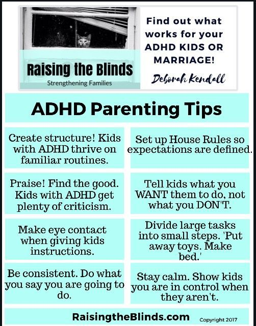 ADHD Parenting Tips to help reduce the chaos and calm your