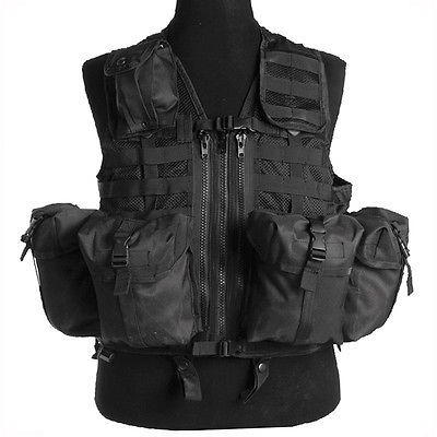 #Modular system military tactical vest #airsoft #webbing paintball security black,  View more on the LINK: http://www.zeppy.io/product/gb/2/271712551271/