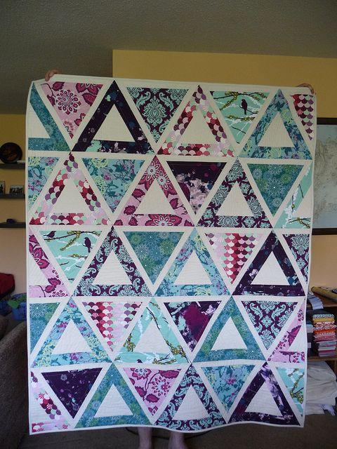 Jaybird Quilts pattern Chopsticks made with Aviary 2, Heirloom, Parisville, Modern Meadow, Habitat, and Kona Ivory