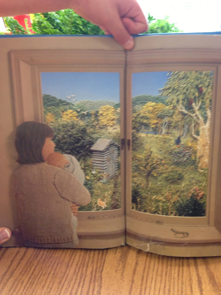 "Picture from the book I love ""Window"" by Jeannie Baker. See the other pin with my students creation of their window. http://www.appleformyclass.com/2013/05/end-of-year-activities.html"