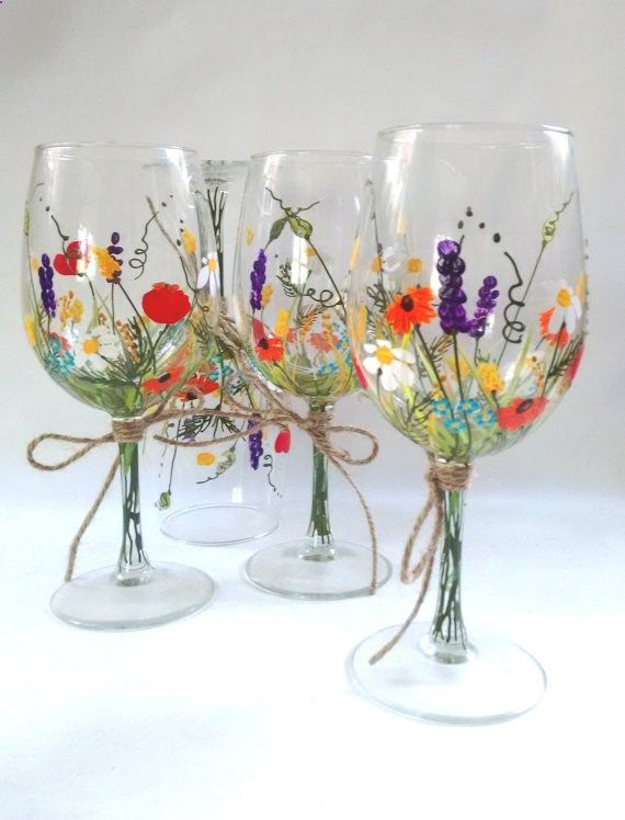 The 25 Best Hand Painted Wine Glasses Ideas On Pinterest