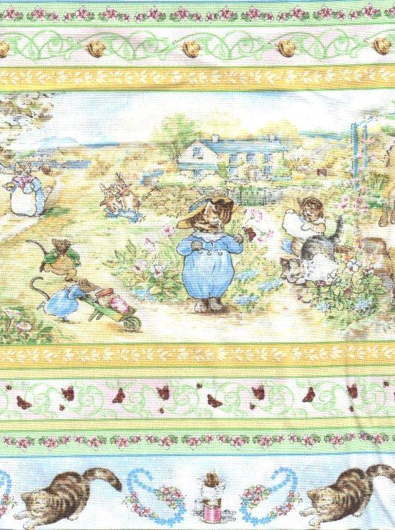 17 best ideas about beatrix potter fabric on pinterest - Peter rabbit nursery border ...