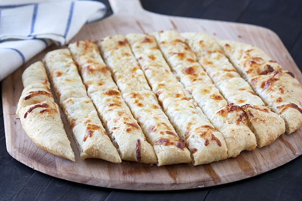 Cheesy Garlic- Beer Breadsticks