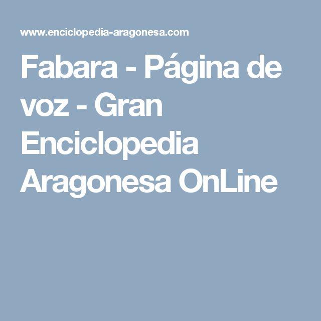 Fabara - Página de voz - Gran Enciclopedia Aragonesa OnLine