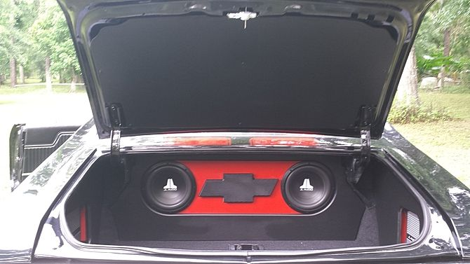 1972 Chevrolet Chevelle 454 CI, Automatic jl audio custom trunk install car stereo