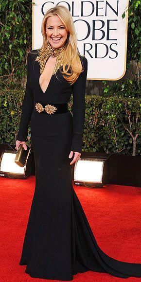 Kate Hudson 2013 Golden Globes, dress by Alexander McQueen. Size 36. Original price $7,160.