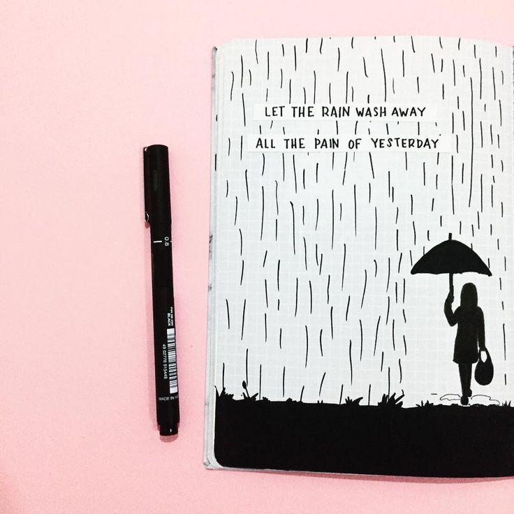 Lass den Regen wegspülen, all die Schmerzen von gestern