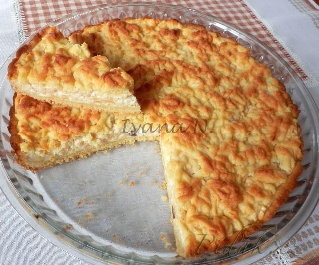 Obrázek z Recept - Strouhaný jablkovo - tvarohový koláč