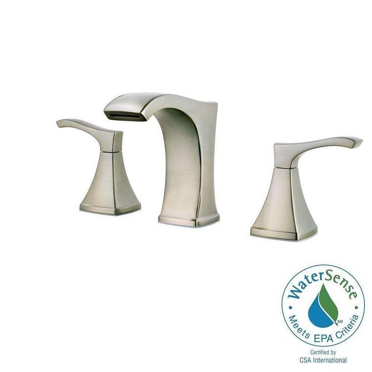 Pfister Venturi 8 in. Widespread 2-Handle Bathroom Faucet in Brushed Nickel-LF-049-VNKK - The Home Depot