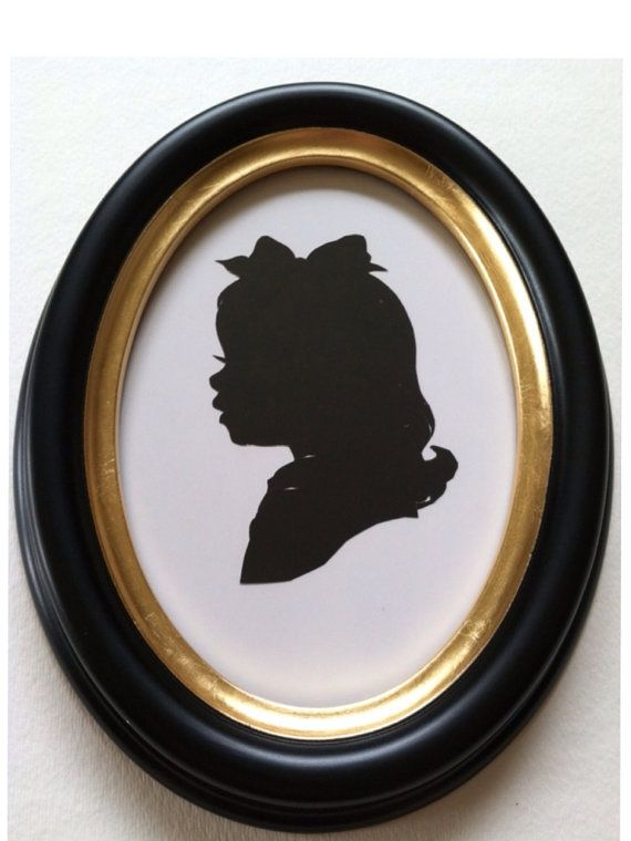 5x7 inch Black Oval Wood Silhouette Frame by PaperPortraits, $35.00